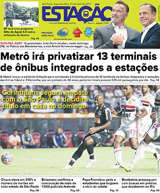 Jornal Estação de 15/04/2019 – Ed. 1293