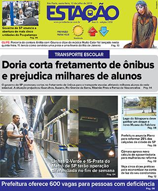 Jornal Estação de 12/07/2019 – Ed. 1352