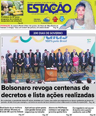 Jornal Estação de 19/07/2019 – Ed. 1357