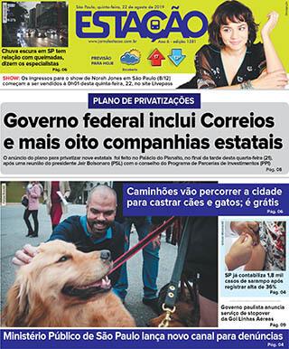 Jornal Estação de 22/08/2019 – Ed. 1381