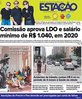 Jornal Estação de 09/08/2019 – Ed. 1372