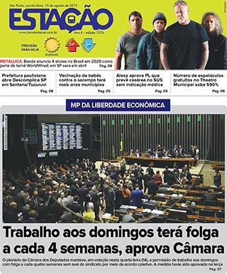 Jornal Estação de 15/08/2019 – Ed. 1376
