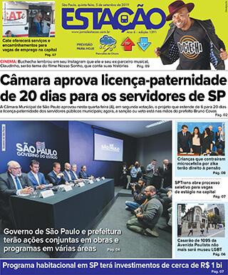 Jornal Estação de 05/09/2019 – Ed. 1391