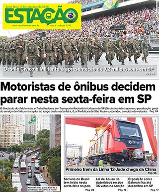 Jornal Estação de 06/09/2019 – Ed. 1392